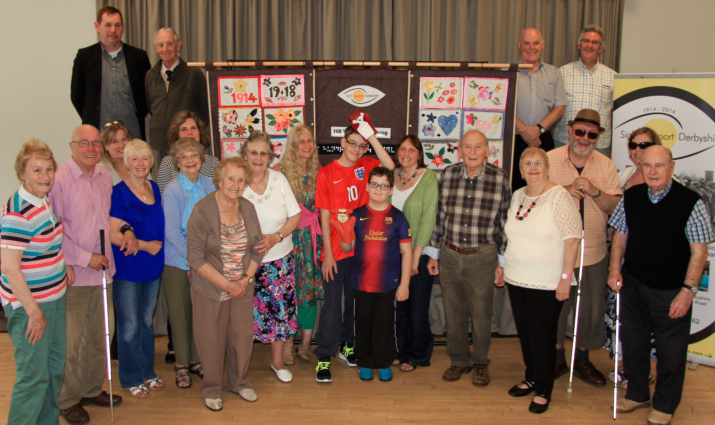 Image showing visually impaired members taking part in the 100 years and still serving project