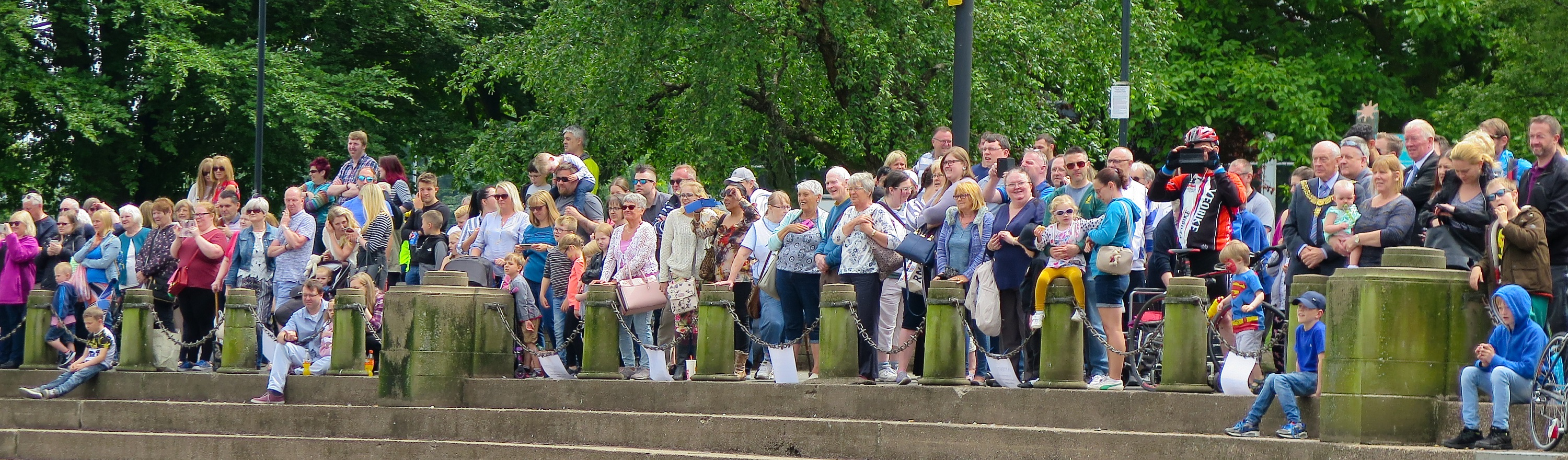 Image showing the crowds watching the 2018 duck race