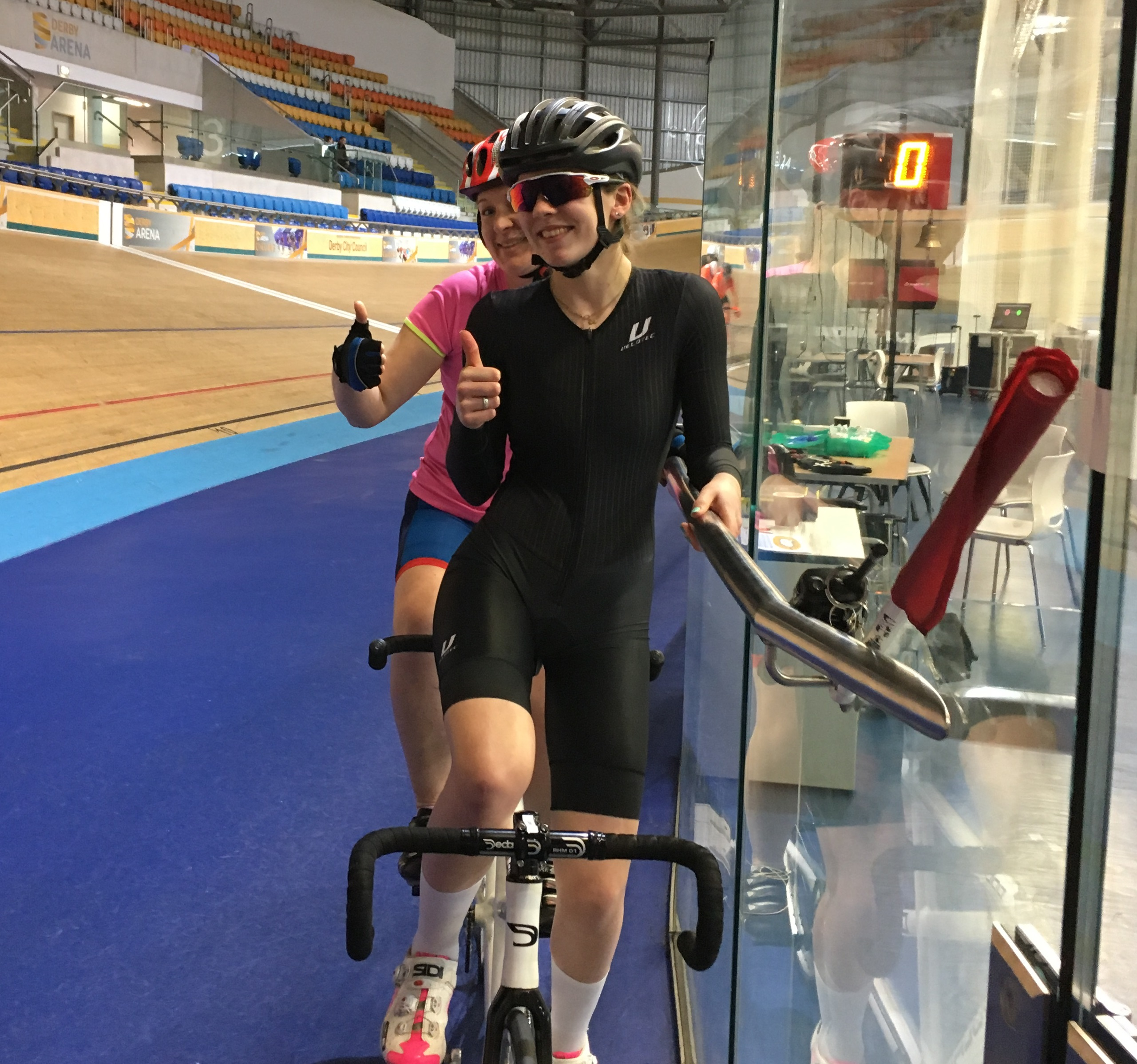 Image showing ladies cycling for Velodrome challenge