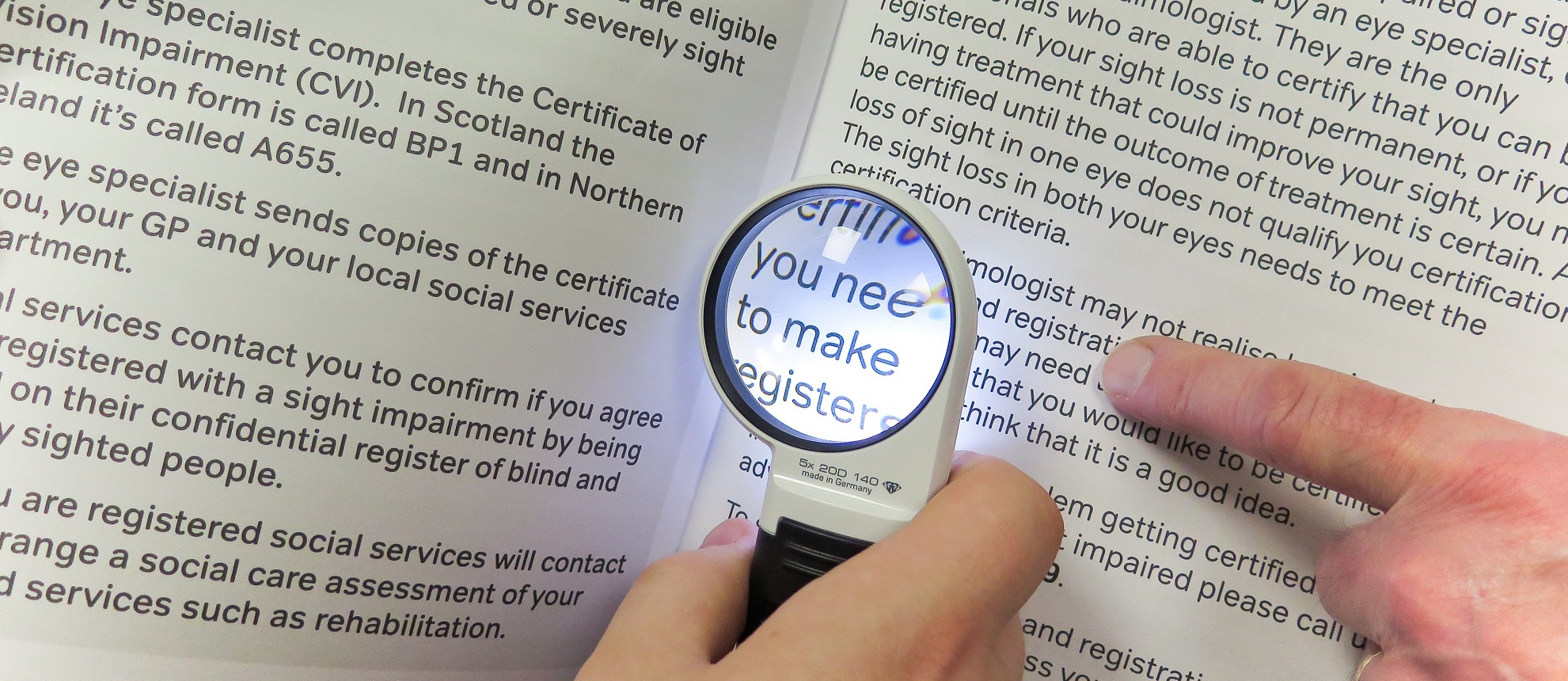 Image showing magnifier in use