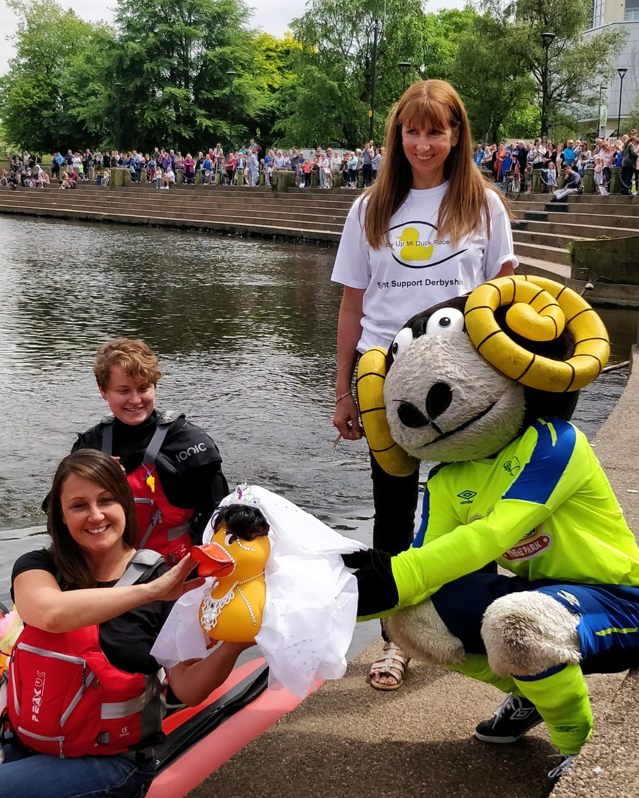 Image showing Rammie at the 2018 duck race
