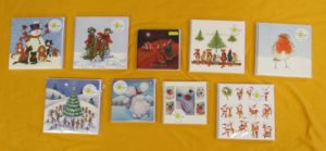 A selection of Christmas card designs