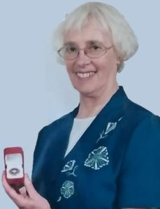 Irene Binks with her Diamond Award