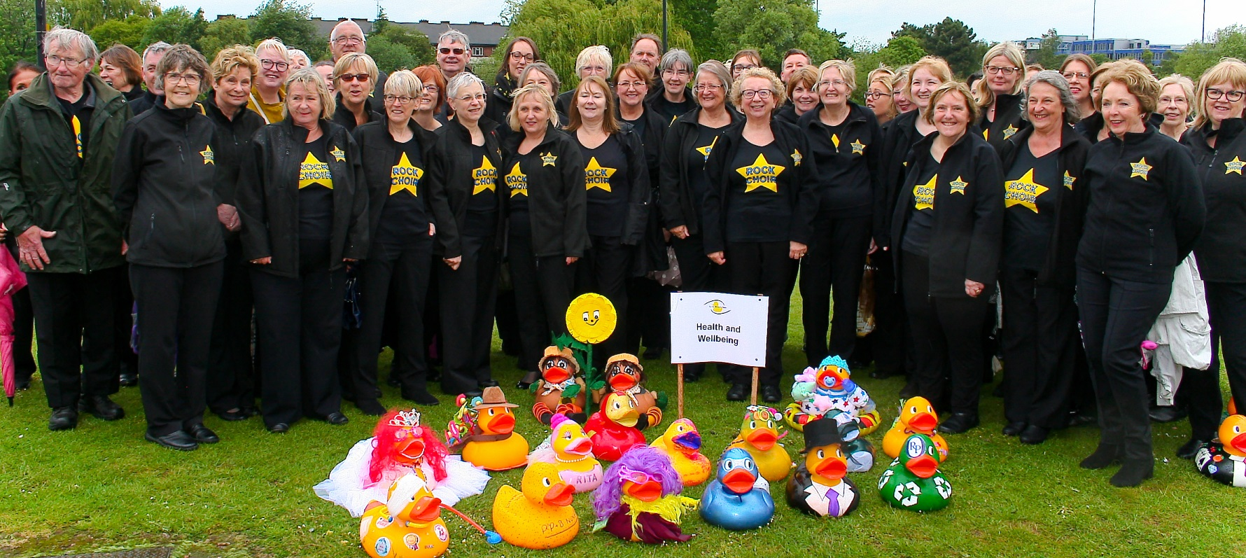 Derby Rock Choir with some of the ducks